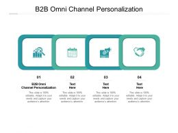 B2B Omni Channel Personalization Ppt Powerpoint Presentation Infographic Template Icon Cpb
