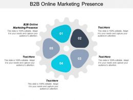 B2B Online Marketing Presence Ppt Powerpoint Presentation File Designs Download Cpb