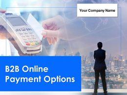 B2b Online Payment Options Powerpoint Presentation Slides