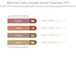 B2b Online Selling Template Sample Presentation Ppt