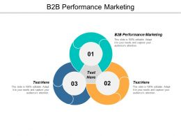 B2B Performance Marketing Ppt Powerpoint Presentation Pictures Show Cpb