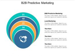 B2b Predictive Marketing Ppt Powerpoint Presentation Pictures Slides Cpb
