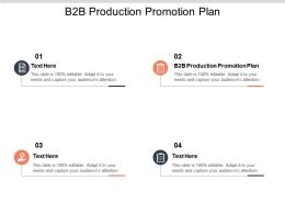 B2B Production Promotion Plan Ppt Powerpoint Presentation File Professional Cpb