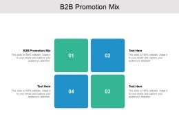 B2B Promotion Mix Ppt Powerpoint Presentation Gallery Influencers Cpb