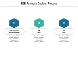 B2B Purchase Decision Process Ppt Powerpoint Presentation Slides Deck Cpb