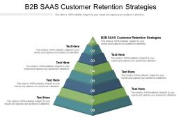 B2B SAAS Customer Retention Strategies Ppt Powerpoint Presentation Graphic Images Cpb