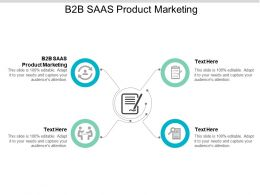 B2B SAAS Product Marketing Ppt Powerpoint Presentation Slides Files Cpb