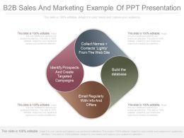 B2b Sales And Marketing Example Of Ppt Presentation