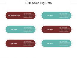 B2B Sales Big Data Ppt Powerpoint Presentation Layouts Infographics Cpb