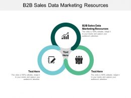 B2B Sales Data Marketing Resources Ppt Powerpoint Presentation Summary Rules Cpb