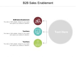 B2B Sales Enablement Ppt Powerpoint Presentation File Example Cpb