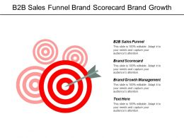 B2b Sales Funnel Brand Scorecard Brand Growth Management Cpb