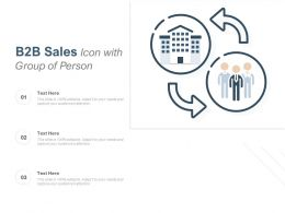 B2B Sales Icon With Group Of Person