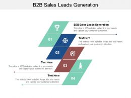 B2B Sales Leads Generation Ppt Powerpoint Presentation Styles Visual Aids Cpb