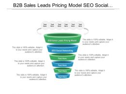 B2b Sales Leads Pricing Model Seo Social Networking Marketing Channel Cpb