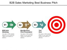 B2b Sales Marketing Best Business Pitch Presentation Leadership Hiring Cpb