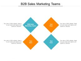 B2B Sales Marketing Teams Ppt Powerpoint Presentation Infographics Good Cpb