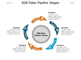 B2B Sales Pipeline Stages Ppt Powerpoint Presentation Professional Influencers Cpb