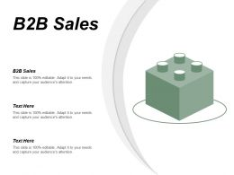B2B Sales Ppt Powerpoint Presentation Icon Background Designs Cpb