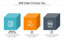 B2B Sales Process Tips Ppt Powerpoint Presentation Inspiration Example File Cpb