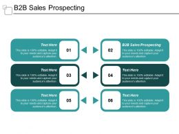 B2B Sales Prospecting Ppt Powerpoint Presentation Pictures Graphics Design Cpb