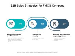 B2B Sales Strategies For FMCG Company