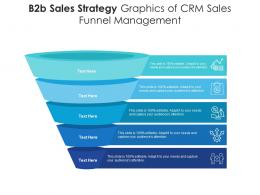 B2b Sales Strategy Graphics Of CRM Sales Funnel Management Infographic Template