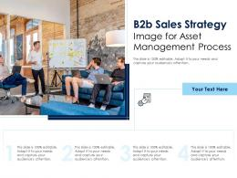 B2b Sales Strategy Image For Asset Management Process Infographic Template