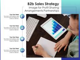 B2b Sales Strategy Image For Profit Sharing Arrangements Partnerships Infographic Template