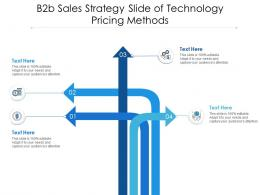 B2b Sales Strategy Slide Of Technology Pricing Methods Infographic Template