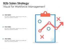 B2b Sales Strategy Visual For Workforce Management Infographic Template