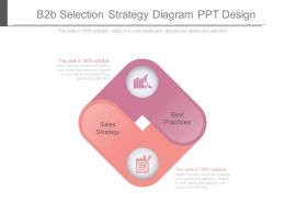 B2b Selection Strategy Diagram Ppt Design