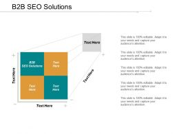 B2B SEO Solutions Ppt Powerpoint Presentation File Pictures Cpb