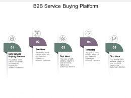 B2b Service Buying Platform Ppt Powerpoint Presentation Gallery Show Cpb
