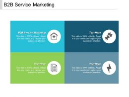 B2B Service Marketing Ppt Powerpoint Presentation Summary Layout Ideas Cpb