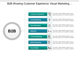 B2b Showing Customer Experience Visual Marketing And Webinars