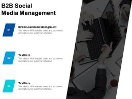 B2B Social Media Management Ppt Powerpoint Presentation Infographics Clipart Cpb