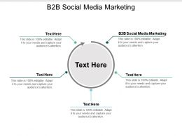 B2B Social Media Marketing Ppt Powerpoint Presentation Styles Diagrams Cpb