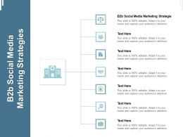 B2b Social Media Marketing Strategies Ppt Powerpoint Presentation Model Outfit Cpb