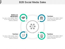 B2B Social Media Sales Ppt Powerpoint Presentation Infographic Template Slideshow Cpb