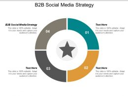 B2B Social Media Strategy Ppt Powerpoint Presentation Icon Deck Cpb