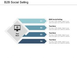 B2B Social Selling Ppt Powerpoint Presentation Gallery Shapes Cpb