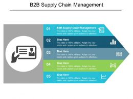 B2B Supply Chain Management Ppt Powerpoint Presentation Gallery Examples Cpb