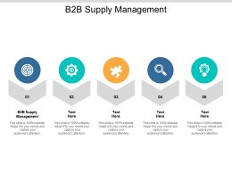 B2B Supply Management Ppt Powerpoint Presentation Slides Visual Aids Cpb