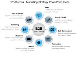 B2b Survival  Marketing Strategy Powerpoint Ideas