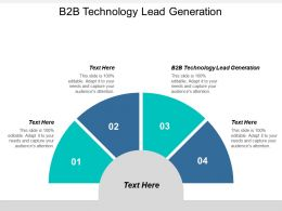 B2B Technology Lead Generation Ppt Powerpoint Presentation Gallery Outline Cpb