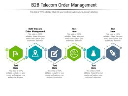 B2B Telecom Order Management Ppt Powerpoint Presentation Gallery Graphics Tutorials Cpb