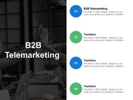 B2B Telemarketing Ppt Powerpoint Presentation Portfolio Design Templates Cpb