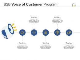 B2B Voice Of Customer Program Infographic Template