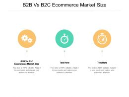B2B Vs B2C Ecommerce Market Size Ppt Powerpoint Presentation Summary Gallery Cpb